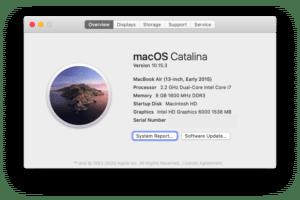 Vérifier la génération du macbook
